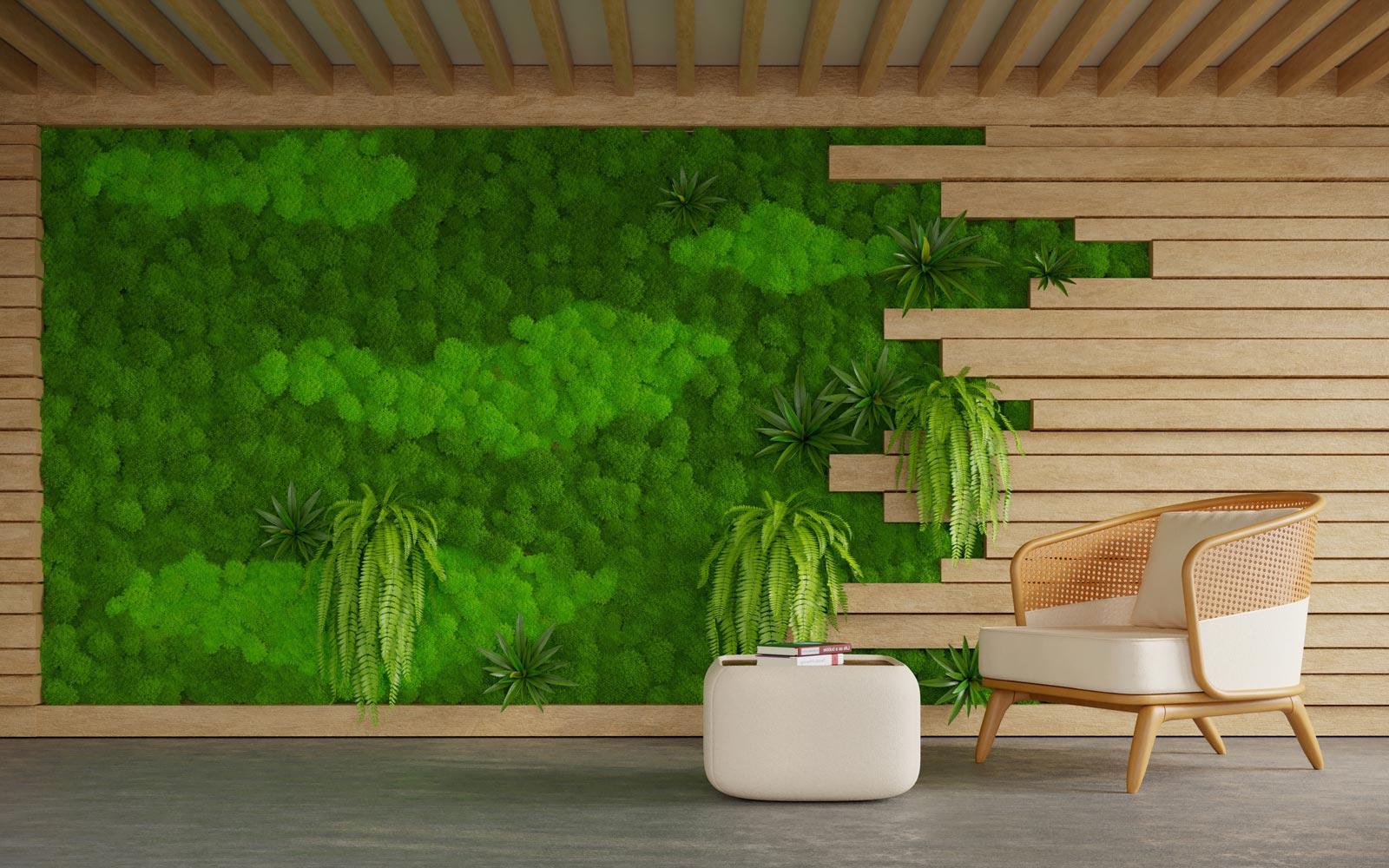 Zielone ściany – wprowadź do wnętrza żywą zieleń bez utraty miejsca! 1