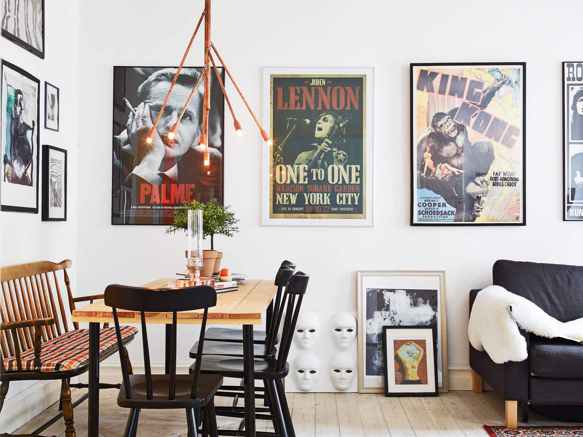 plakaty w salonie