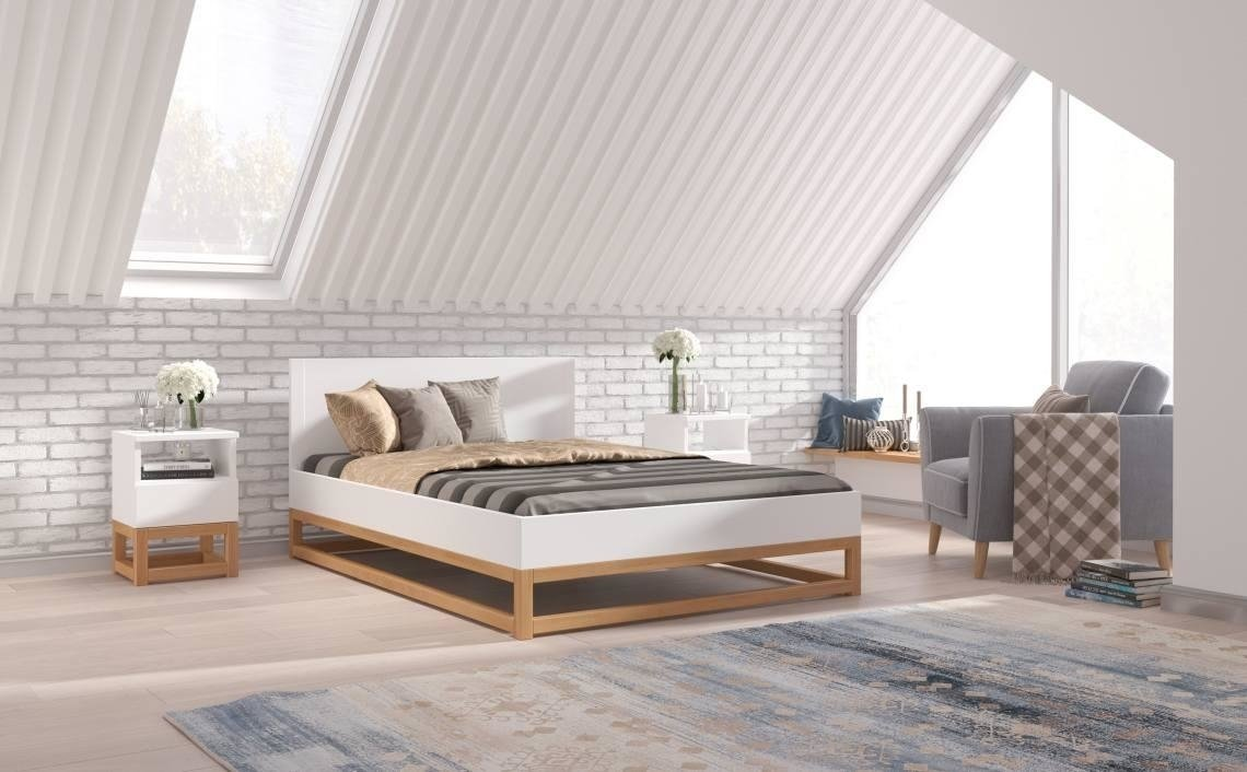 Łóżka drewniane Visby – stwórz sypialnię swoich marzeń! 1