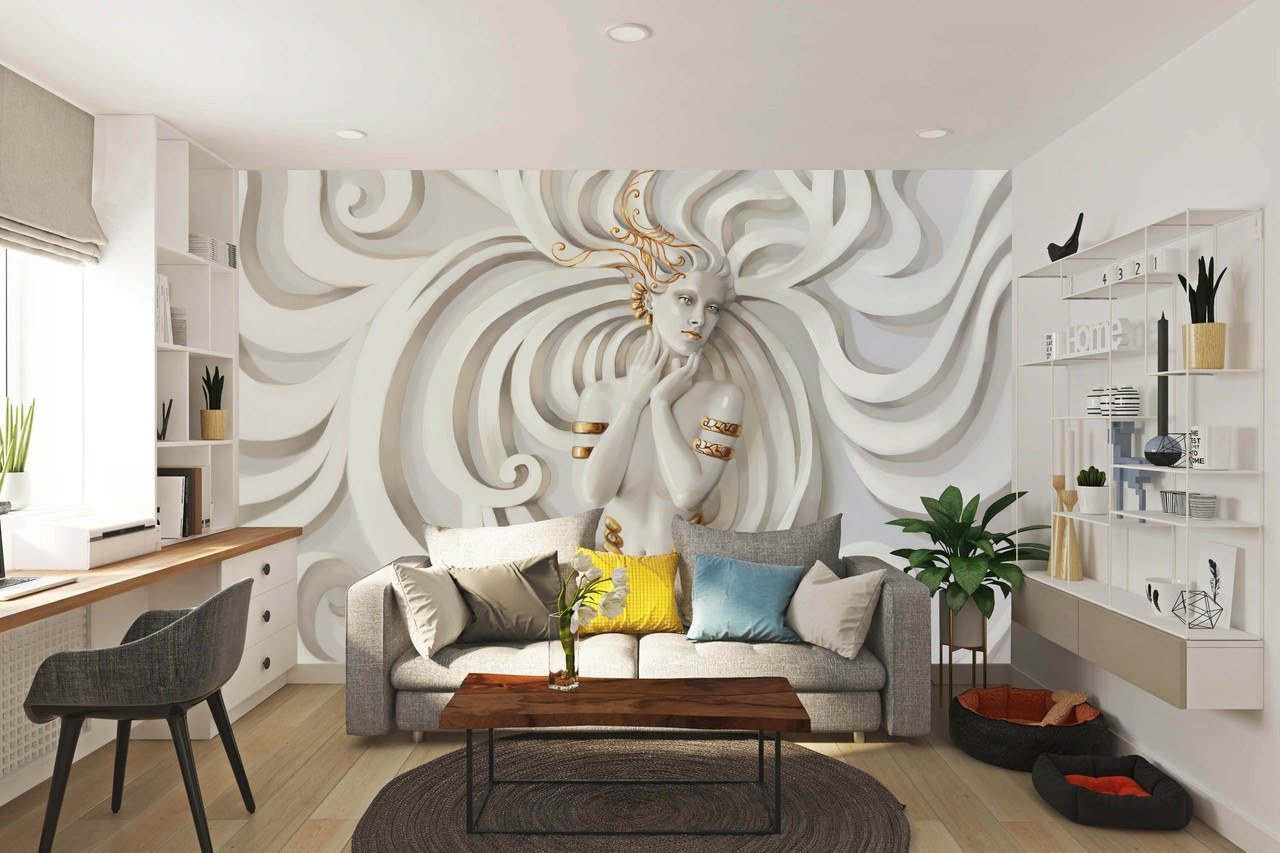 Alternatywna rzeczywistość mieszkania. Tapeta 3D - nowy wymiar dekoracji ściennych 1